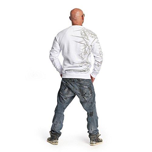 Yakuza Original Herren Thorns Pullover Sweater Weiß