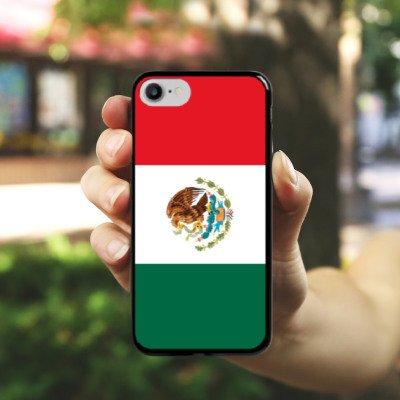 Apple iPhone X Silikon Hülle Case Schutzhülle Mexiko Flagge Fußball Hard Case schwarz