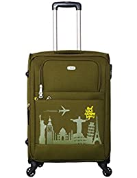 36b9d844b Timus Salsa Military Green 65 cm 4 Wheel Strolley Suitcase for Travel  (Medium Check in