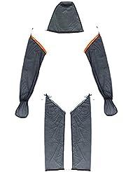 Al Aire Libre Mosquito Insecto Abeja Malla Cara de Cabeza Casquillo Sombrero Protector Pierna Brazo Mangas - XL