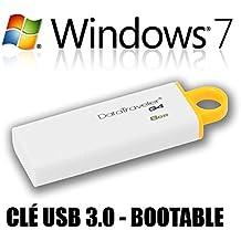 Windows 7 Édition Familiale Premium (Home Premium) 64 bits en français - Clé USB 3.0 8 Go - Restauration / Réinstallation