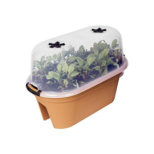 Elho green basics flower bridge balcony planter 55cm - mild terra