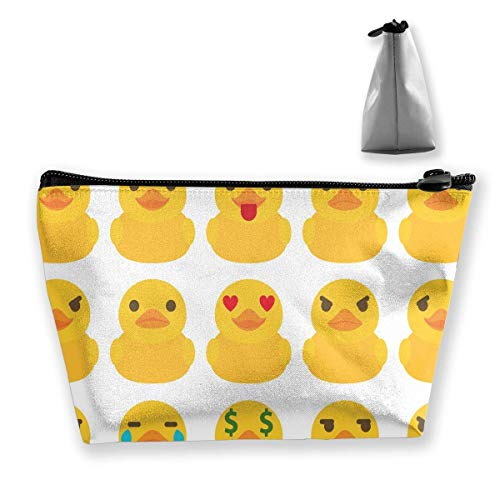 Rubber Ducks White Pencil Case Pen Zipper Bag Coin Organizer Makeup Costmetic Storage Bag Pouch (Rubber Spielzeug Hund Duck)