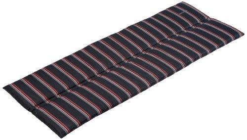 Kettler 0309011-8673 Auflage für textilbespannte Alu-Bank (nur Sitzfläche) 120 x 47 x 3 cm, anthrazit gestreift