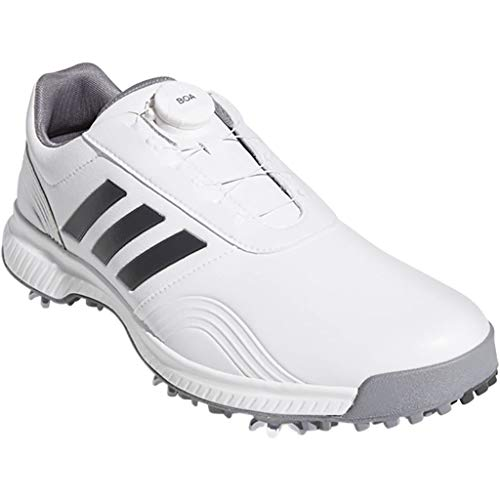 adidas, Scarpe da Golf Uomo, Bianco (White/Grey/Silver), 43,5 EU