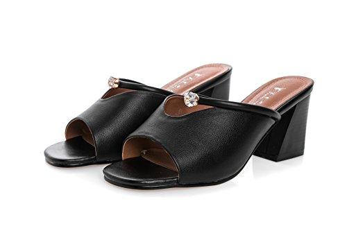 ZYUSHIZ Frau High-Heel Occidental im minimalistischen Stil ziehen t Sandalen Hausschuhe 38EU