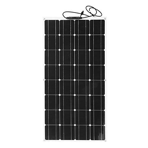 Características:   Panel solar de 18V 100W - Para garantizar una carga segura y estable.Alta tasa de conversión y alta eficiencia de salida.Diseño semiflexible: se puede doblar para aumentar la absorción de la luz solar.El panel se puede montar en v...