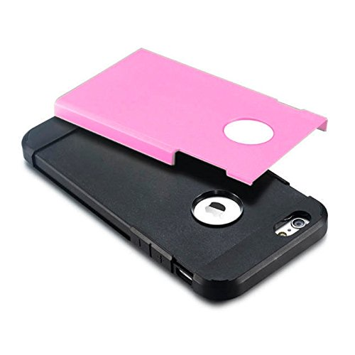Für iPhone 6 / 6s, Hybrid PC + TPU Tough Armor Farbe Hard Case Cover DEXING ( Color : Orange ) Pink