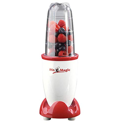 gourmetmaxx Mr. Magic Smoothiemaker, Standmixer, 250 W, rot/weiß
