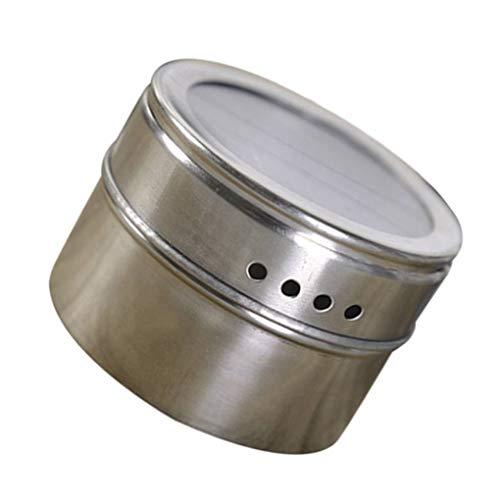 Lorsoul Edelstahl-Grillgewürz Topf Multifunktionale Menage Behälter Küche Aromatisierung Box Grill-Werkzeug