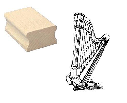 Stempel Holzstempel Motivstempel « HARFE » Scrapbooking - Embossing Musiker Instrument Komponieren Engel