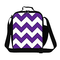 GIVE ME BAG Generic Stylish Zigzag Printing Lunch Bag for Children Kids Food Bag for School
