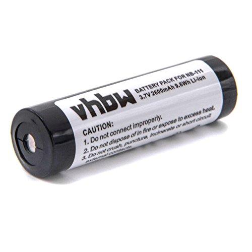 Batería vhbw 2600mAh (3.7V) para reproductor KENWOOD DMC-G7R MiniDisc Players, DENON DMP-R70 sustituye BP-1600R, AD-MS10BT, NB-111, NB111.