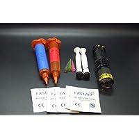 Preisvergleich für Olax 10ml Dünn, Licht + 10ml Dickflüssig, Dick Fliegenbinden Kleber, Leim Kit mit Zoombare UV Taschenlampe