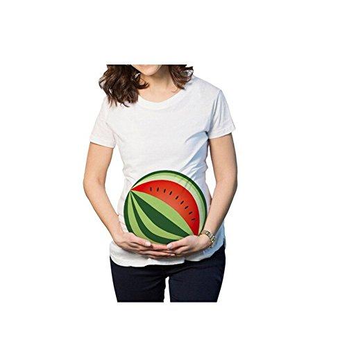 Witzige süße Schwangere Maternity Damen Umstandsmode T-Shirts mit Mutterschafts-niedliche lustige Slogan Motiv Schwangerschaft Geschenk Kurzarm-XL