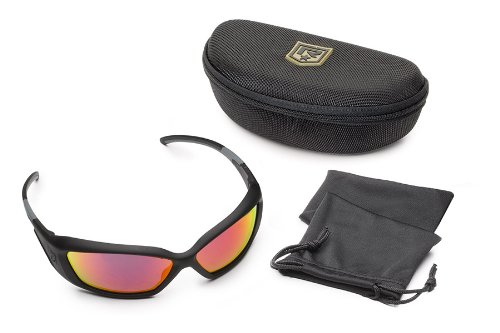 34a0577591 Revision Military Hellfly Ballistic Sunglasses - Black Frame Flame Mirror  Lenses