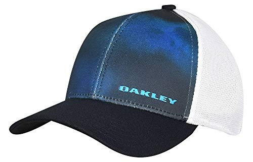 Oakley 4.0Print Silicon Bark Trucker für Herren, Herren, Fathom