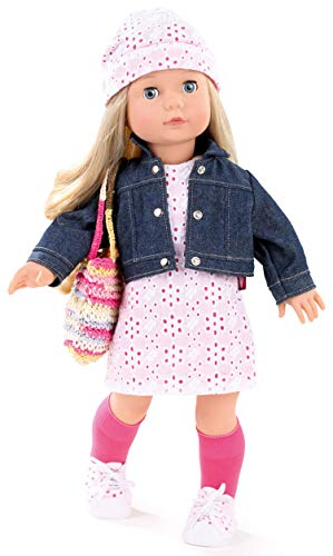 Götz Puppe Precious Day Girls Jessica Color&Lace - 46 cm große Stehpuppe, Blondes Haar, Blaue Schlafaugen, Spielzeug für Mädchen ab 3 Jahren (10-teiliges Set)