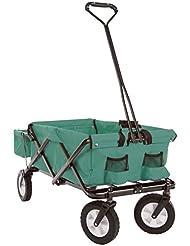 Ultrasport faltbarer Wagen / Bollerwagen / Picknickwagen mit Transporthülle mit/ohne Dach, belastbar bis 55 kg