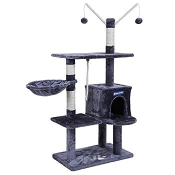 FEANDREA Arbre à chat grande capacité griffoir niches colonnes renforcées PCT35G