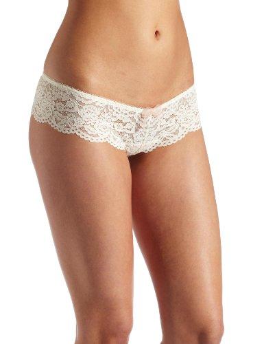 b.tempt'd by Wacoal Ciao Bella Tanga Panty für Damen - Elfenbein - Groß (Wacoal Unterwäsche)