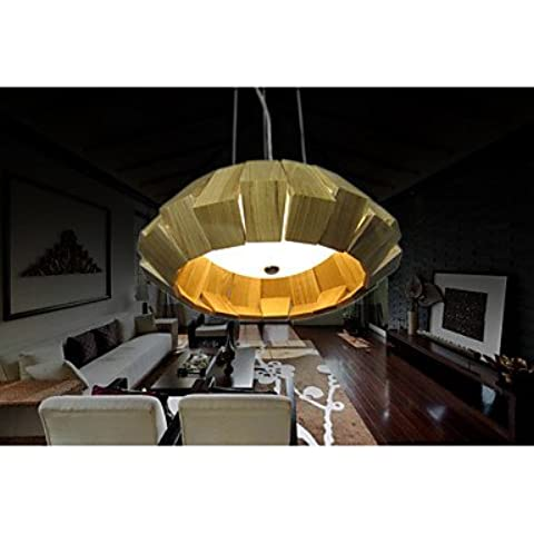 CU Wrought Iron Light Pendant Lights Contemporary Contracted Style Ceiling 1 Light Outside Iron wooden Primary colors White-220-240V