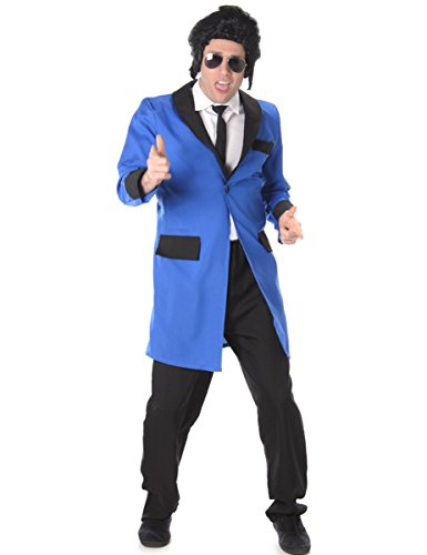 Teddy Boy Mens Fancy Dress 1950s 50s Rock n Roll Elvis Adult Costume (Perücke 1950er Jahre)
