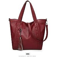 Isogea Versátil Mujeres Tote Bag Ladies Tassel Satchel Bolsos Hombros Bolsa para Mujeres Retro Moda (