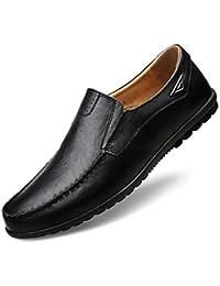 Sneerrt Hombres Pisos Zapatos Ligeros Transpirables Mocasines Bajos Mocasines Zapatillas de Deporte Zapatos cómodos
