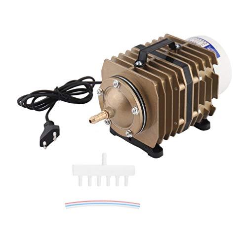 Hocheffiziente 70L / Min 80W Aluminiumlegierung Shell Elektromagnetische Luftpumpe Kompressor Aquarium Sauerstoffpumpe ACO-005 EU-Stecker