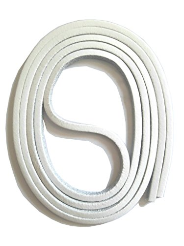 SNORS Schnürsenkel aus LEDER WEISS, 120cm, ca. 3x3mm, Docksider, Lederriemen, echtes Rindsleder, Ledersenkel Made in Germany
