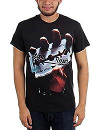 Judas Priest - - Hombres British Steel camiseta en Negro