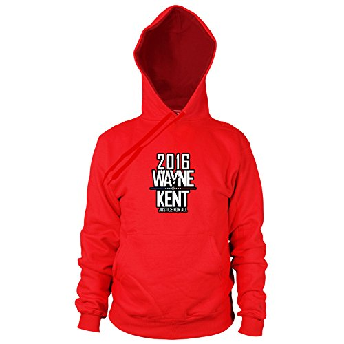 Wayne and Kent for President - Herren Hooded Sweater, Größe: XXL, Farbe: rot