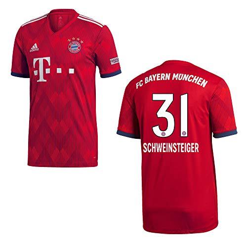 adidas Bayern Trikot Home Herren 2019 - Schweinsteiger 31, Größe:L