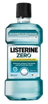 Listerine Zero Mild Mint, Mundspülung ohne Alkohol - 500ml - 4x (Mild Spray Mint)