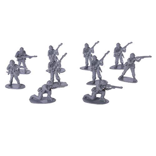 10 Stücke Military Armee Männer Kunststoff Spielzeug Soldaten Figuren Modell Spielzeug Für Kinder Jungen (Kunststoff Männer Spielzeug Armee)