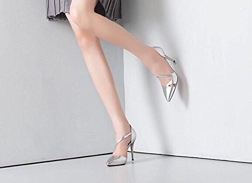 ... Beauqueen Casual Pumps Party Arbeit Schuhe Sommer Frauen S-Strap Low  Heel Silber Gold Einfache ... c1fd3948cf