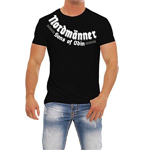 Männer und Herren T-Shirt Nordmänner (mit Rückendruck)