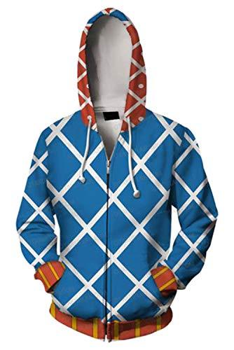 Tianxinshop Anime Cartoon JoJo´s Hoodie Guido Mista Cosplay Kostüm 3D gedruckt Hooded Sweatshirt Zipper Jacket (Comic Con Kostüm Anime)