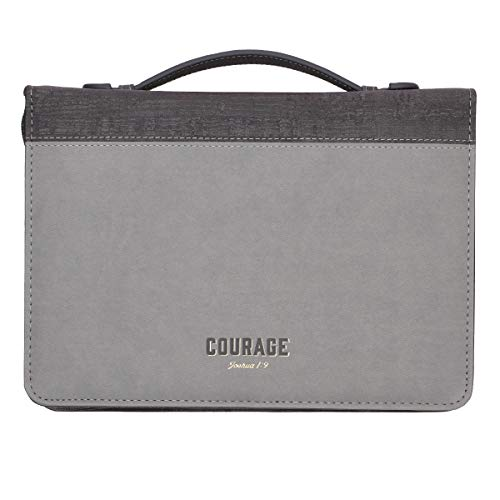 Courage LuxLeather Bible Cover - Joshua 1:9 - Large