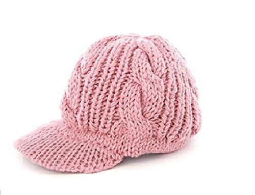 Kingstons rosa donne ragazza slouchy Knit Beanie crochet Rib Hat