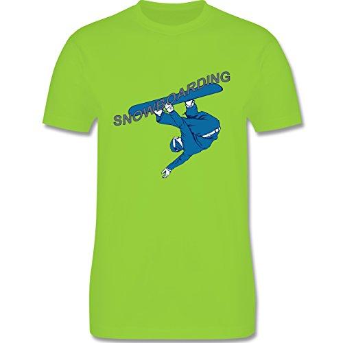 Wintersport - Snowboarding - Herren Premium T-Shirt Hellgrün