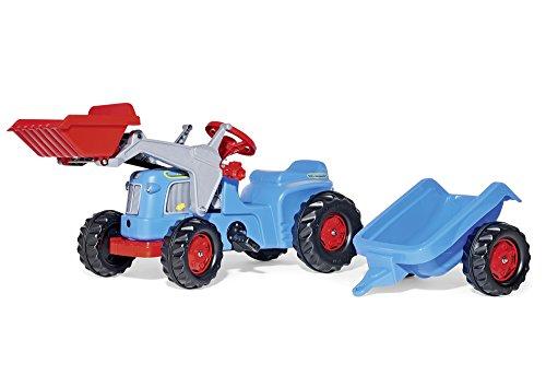 Preisvergleich Produktbild Rolly Toys 630042 rollyKiddy Classic | Trettraktor mit Lader u. Automatikverriegelung | Traktor mit Anhänger | Farbe blau | für Kinder ab 2,5 Jahren | TÜV/GS geprüft