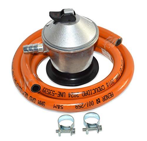 S&M 321771 Regulador de Gas Butano Goma M + 2 Abraz, Gris/Naranja,...