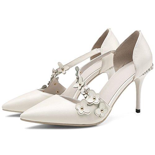 Les Chaussures À Talons Des Sandales, Fleurs, Diamants, Évidé, Mode, Talon A Des Talons Hauts Talons, Beige
