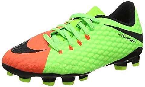 Nike Unisex-Kinder Hypervenom Phinish II FG Fußballschuhe, Grün (Elctrc Green/Black-Hyper Orange-Volt), 33