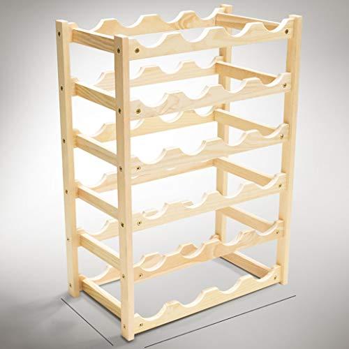 LYLQQQ Weinregal Massivholz weinregal Multi-Standard/arbeitsplatte Display Flasche Rack Handwerk/Kiefer weinregal Halterung (größe : 45.5×25.5×62cm) -
