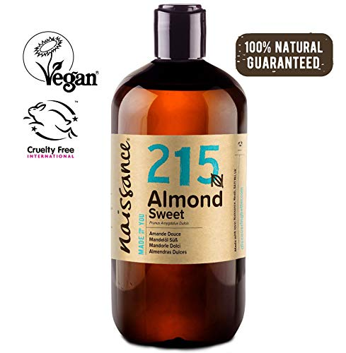 Naissance natürliches Mandelöl süß (Nr. 215) 500ml - Vegan, gentechnikfrei - Ideal zur Haar- und Körperpflege, für Aromatherapie und als Basisöl für Massageöle -