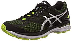 Asics Mens Gt-2000 4 (2E) Flash Yellow, Black and Silver Running Shoes - 6 UK/India (40 EU) (7 US)