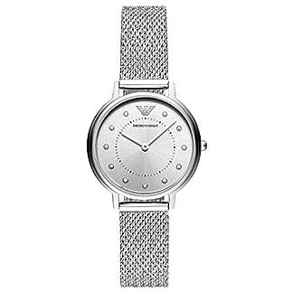 Emporio Armani Reloj Analógico para Mujer de Cuarzo con Correa en Acero Inoxidable AR11128